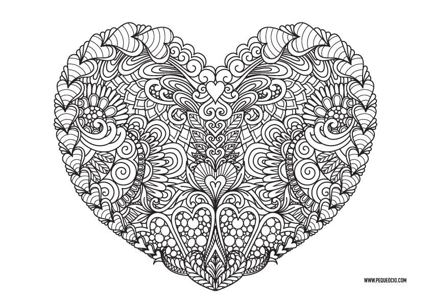 Mandalas de corazones