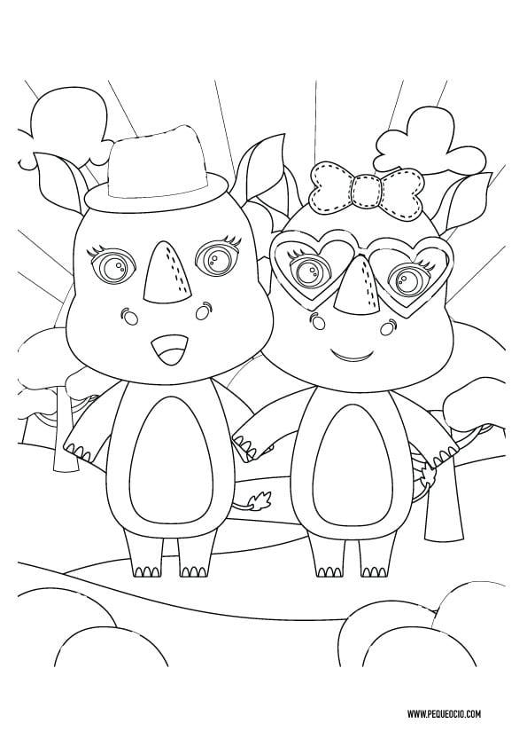 Dibujos para imprimir de San Valentín