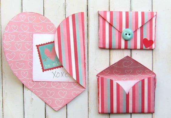 San Valentín tarjetas hechas a mano