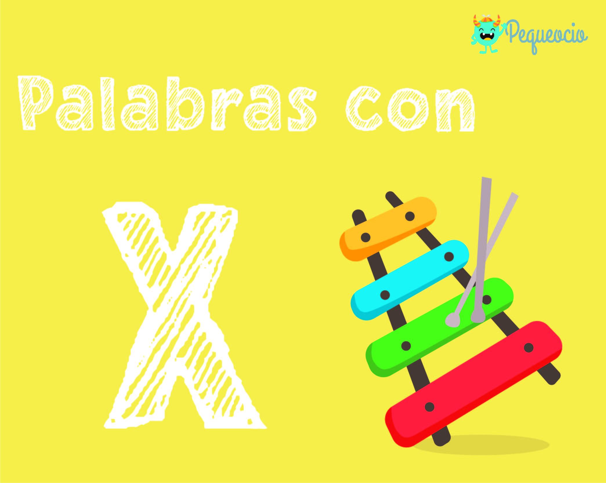 palabras con la letra x