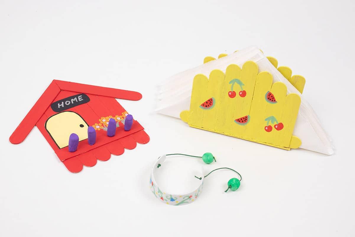 manualidades con palos de helado para niños