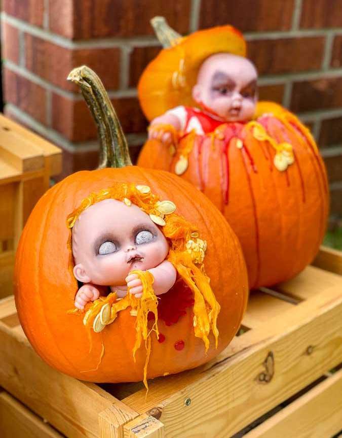 calabazas decoradas originales para halloween