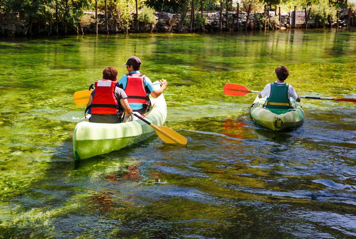 descenso del rio sella con niños asturias