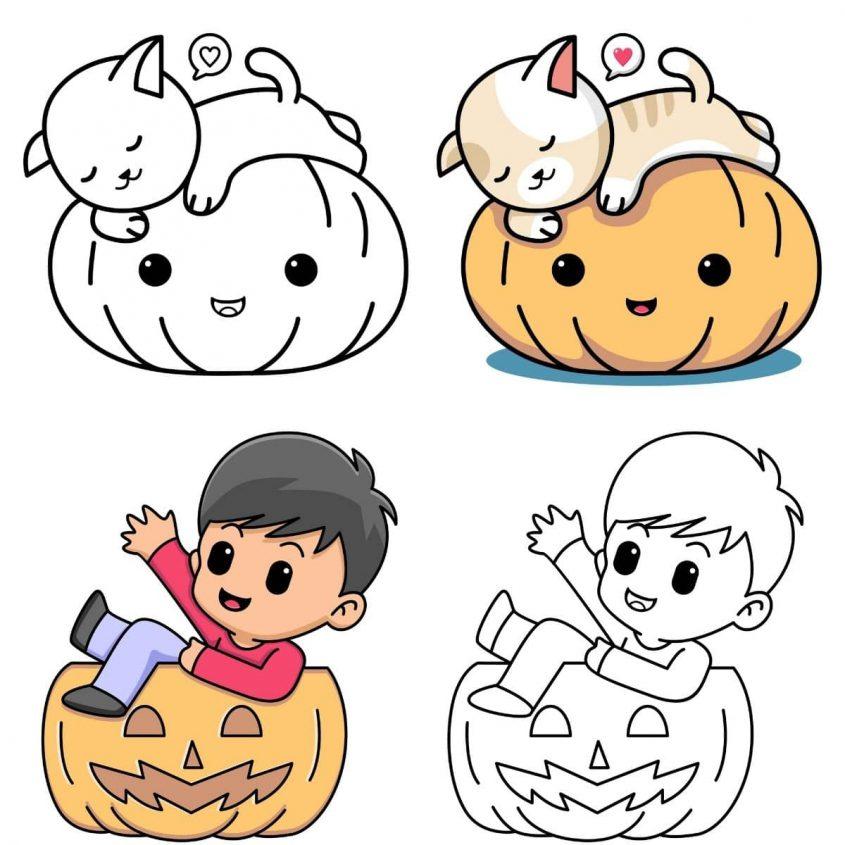 kawaii dibujos de halloween