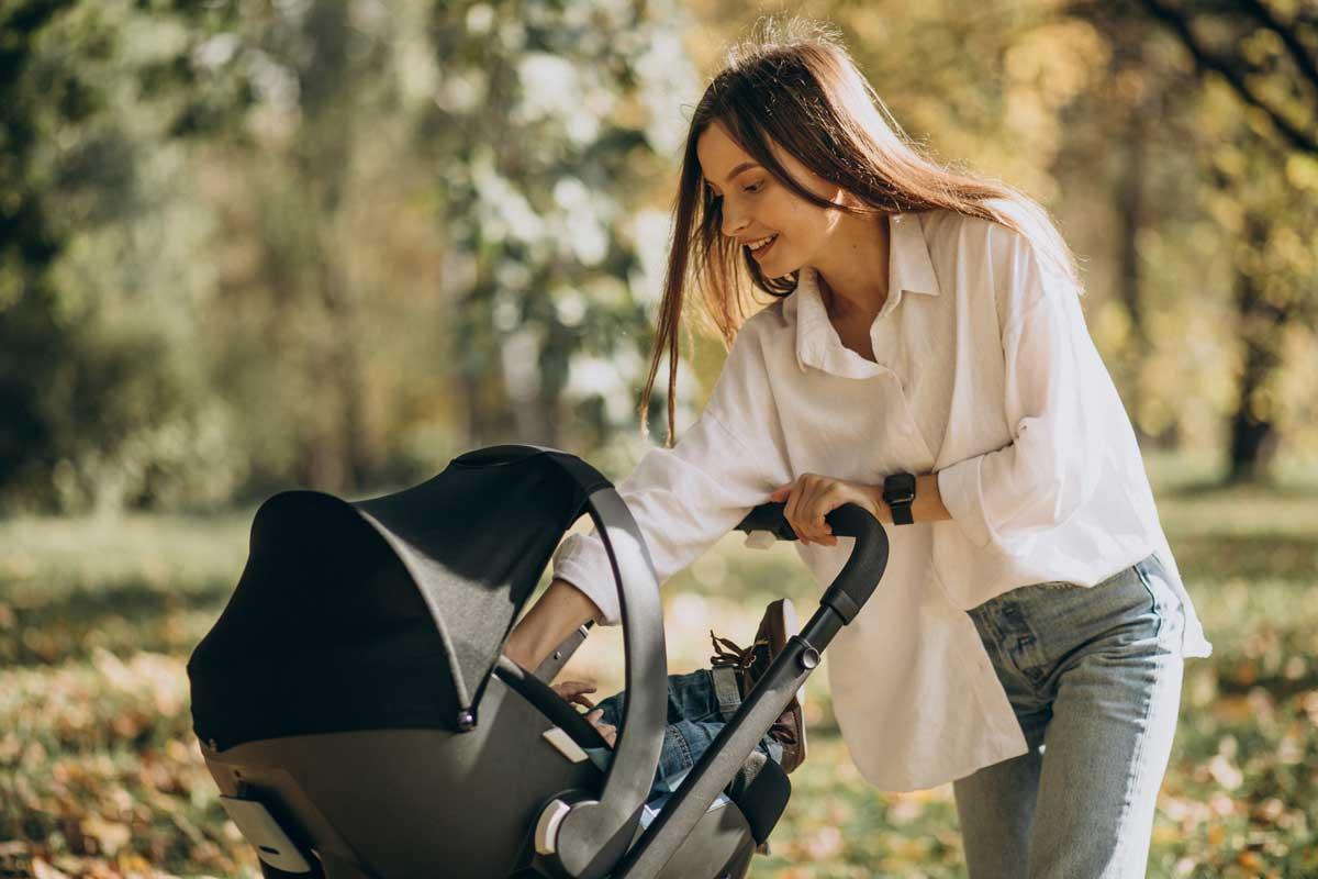 pasear al bebe