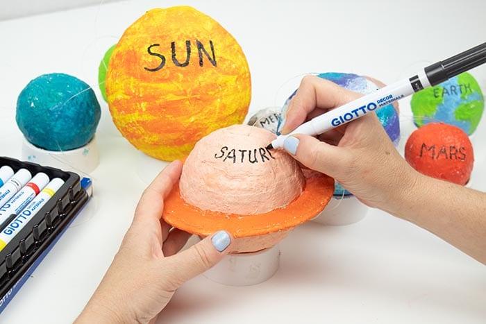 Sistema solar casero para niños