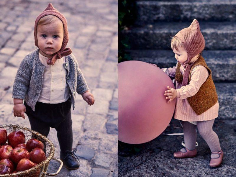 Bonnet a pompon bebes