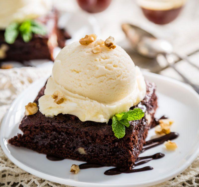 como hacer brownie de chocolate con nueces