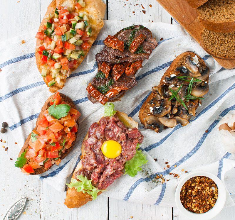 bruschetta italiana recetas