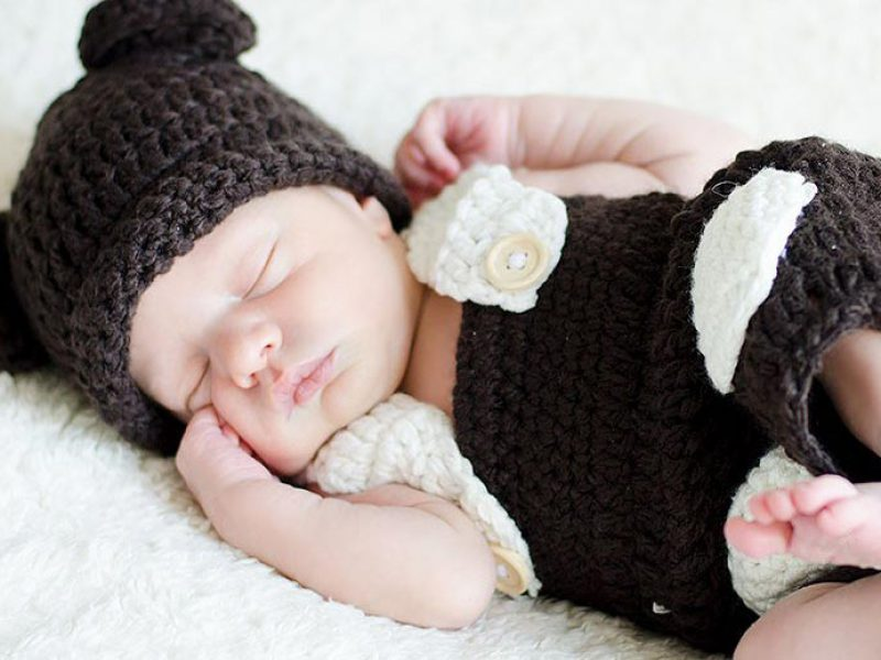 conjunto de crochet foto bebes
