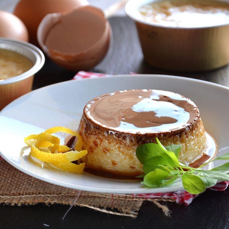 Hacer flan de huevo