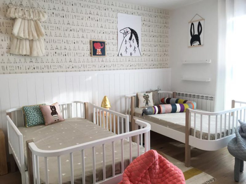 habitacion infantil dos camas