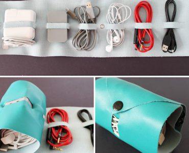 organizador de cables casero para papá