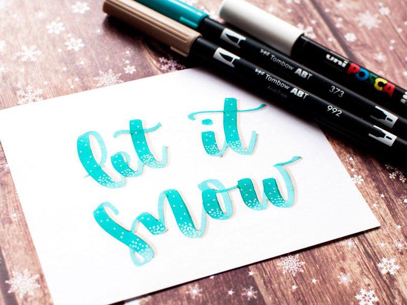 rotuladores caligrafia creativa